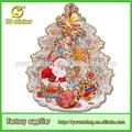 3d papel glitter face santa artesanato janela etiqueta decoração de natal, novidade livro da árvore de natal para a decoração