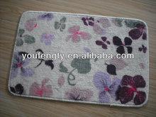 Floral print door mat