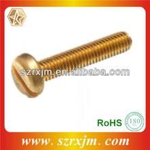 M3 x 20 Brass Machine Screw Slotted Pan Head Machine Screw