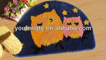 Anti slip half moon bath mat