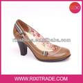 brillante de color caqui la comodidad elegante las mujeres zapatos de vestir