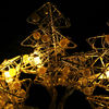 led christmas light led metal tree battery light-string lights