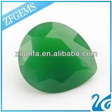 Synthetic Hot Sale Jade Green Decorative Glass Gems Bulk