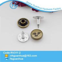 custom design metal rivet with logo