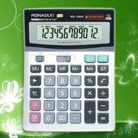 multifunctional carabiner 12digits desktop calculator CE&ROHS Large display dual power office desktop calculator