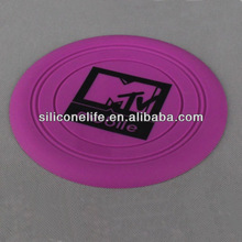Promotional Colorful Foldable Silicone Pet Frisbee / Flying Disk / Flyer For Dog