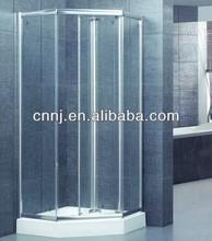 (A-022E) standard size glass shower door pivot hinged