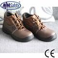 Nmsafety partido de la vaca leaher barato zapato de seguridad de trabajo calzado de seguridad