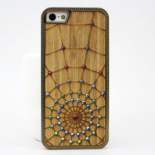 Natural bamboo wodd pc cell phone case for iphone 5/5s