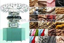 Alta tejido de pelo de computarizado jacquard franja inversa de soplado circular de la máquina de tejer mayer suéter que hace punto de la máquina