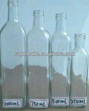 250ml/500ml/750ml/1000ml square glass olive oil bottles