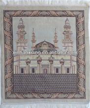DM-004 Jacquard polyester&cotton woven carnal prayer carpet