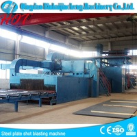 Steel plate surface preparation sand spraying machine