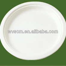 Biodegradable round Bagasse pulp plates