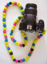 hot new products eco friendly Nepal wool felt ball decorations DIY handmade felt necklace made in china
