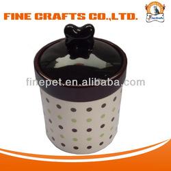 2014 Stylish Dotty Pattern Pets and Dogs Product Dog Treat jar