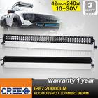 New 42inch 240W cree led light bar,3w cree xpg chip,off road 4x4 use
