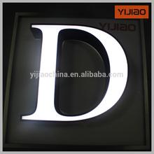 Personalizado volta luz led carta sinal folha de alumínio letra de canaleta