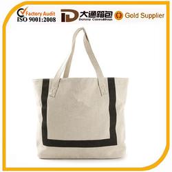 Fashion simple canvas beach bag tote bag large waterproof beach bag
