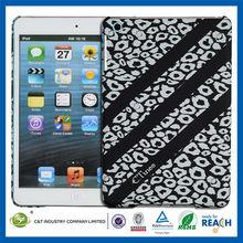 C&T Classical tablet black leopard grain rubber case for ipad mini