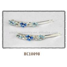 Metal esmalte flor 6.5 cm cabelo aperto grampos para meninas