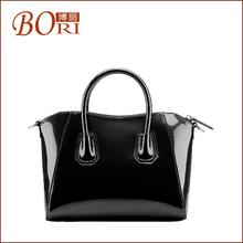 2014 hot korean style shell design black bag geuine leather handbag