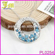 2014 Fashion Trend Elegant Blue Round Trendy Circle Chain Necklace