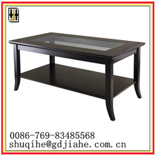 high quality MDF tempered glass coffee table