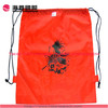 Custom printed logo red nylon drawstring nylon bag backpack travel bag
