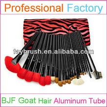 24pcs assorted makeup brush set with natural makeup brushes
