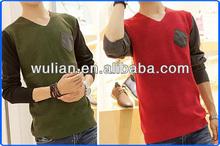 Cotton Blend Knitwear, V-Neck Stylish Knitwear, Pocket Design Slimming Knitwear