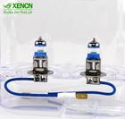 XENCN H3 Pk22s 4300K 12V 55W Silver Diamond Light Car Headlight Bright White Bulb UV Filter Halogen Fog Lamp