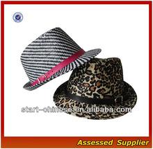 AL255/Short Brim Paper straw Fedora 100% Paper Straw Cuban Style Fedora Hat/paper hat