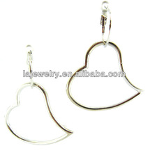 earring jewelry wholesale big oversized heart huggie earrings