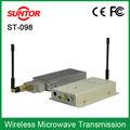 7.5 dc12v 1.2g fm infravermelho sem fio de vídeo do transmissor e receptor