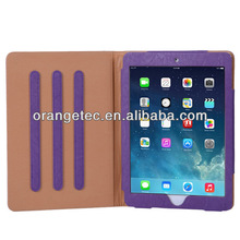 Wholesale PU Leather Stand protective case for iPad back cover case for iPad air