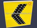Solar de flecha direccional marcador, solar led de tráfico signo rectores, señal de tráfico solar