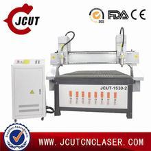 Sculture in legno cnc ad alta effiency/macchina per incidere jcut- 1530b- 2(due teste)