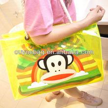 wholesale 2015 beautiful girls clear PVC beach bag