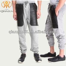 2014 Fashion Leather Pocket Men Polo Pants