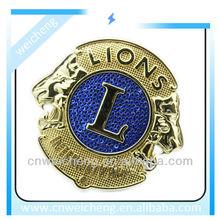 metal pin badge,lions club badge