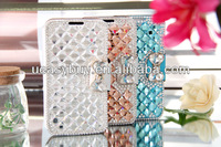 Luxury Leather Back Cover For Samsung Galaxy S4 Bling Diamond Phone Case