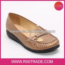 2014 woman golden heart shoe bronze lady boat shoes