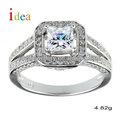 venta al por mayor de china de calidad superior de plata princesa corte de piedras preciosas anillo de la joyería