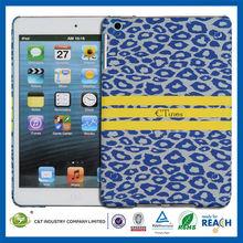 C&T Graceful hot sale blue color leopard for ipad mini back cover cases