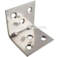 china high quality custom metal stainless steel angle l corner bracket for furniture vendor