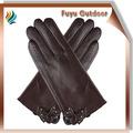 guangdong 2014 de invierno de piel de cabra llanura de la mariposa estilo guantes de cabritilla