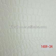 white crocodile pattern leather for decorative materials