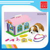 Kids doctor play set toys funny pet house set with dog D235470