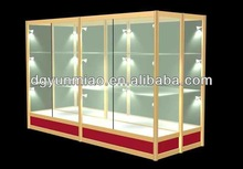 2014 fashional clear glass display cabinet for nice display
